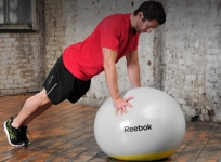 Reebok gymball with weighted area